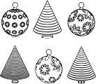 abstract christmas bulbs coloring page