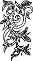 abstract flower border coloring page