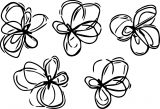 abstract flower shapes coloring page