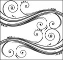 abstract swirls coloring page