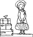 anne of green gables at the train station coloring page