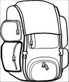 backpack free camping image coloring page