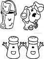 blues clues salt pepper coloring page