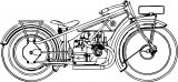 bmw r32 motocyle coloring page