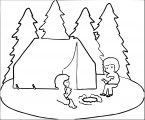 camping coloring page (2)