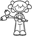 camping_girl coloring page