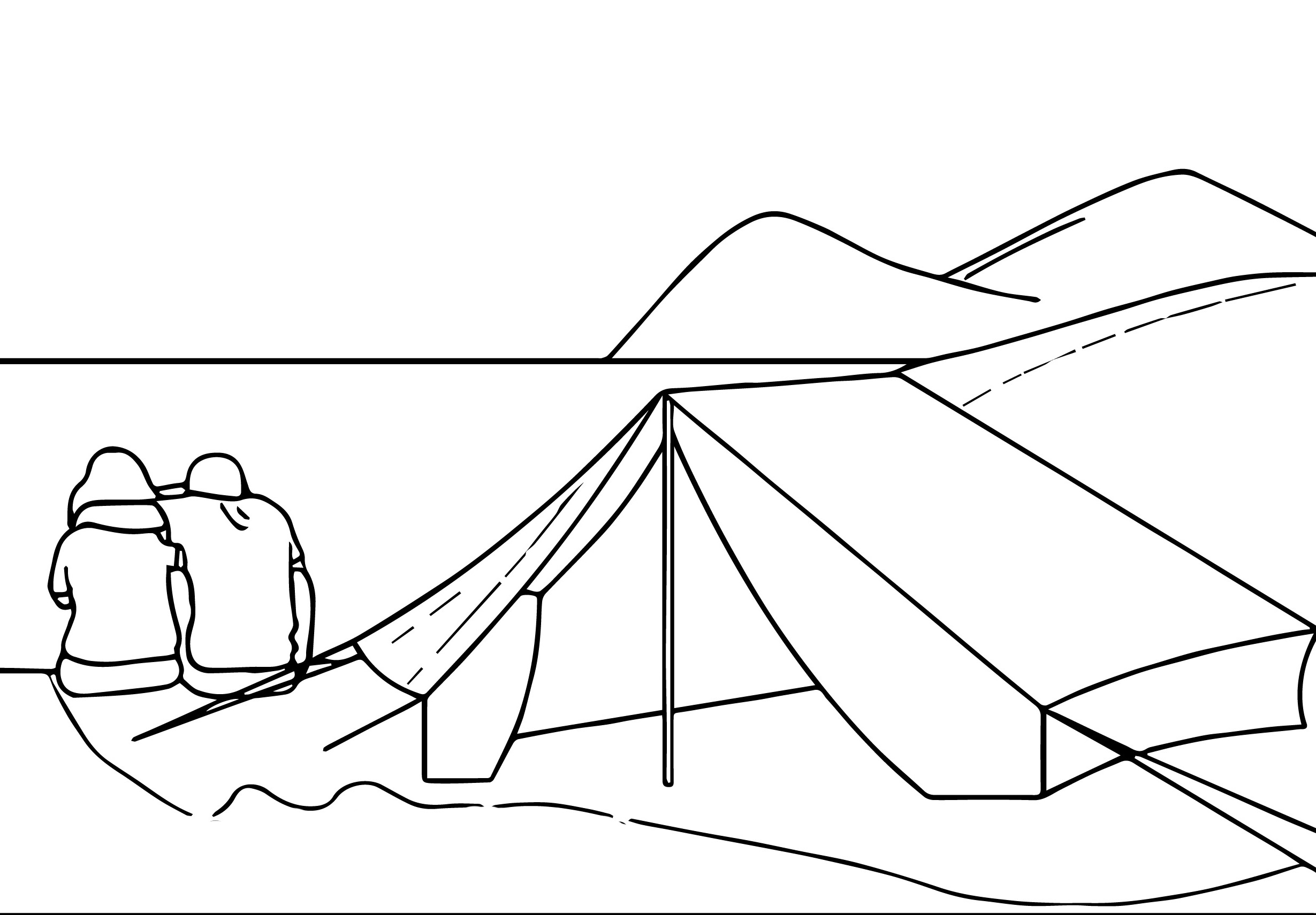 camping_ocean_coloring_page