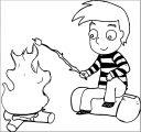 cartoon roasting marshmallows cartoon_boy_roasting_marshmallows coloring page