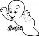 casper the friendly ghost fly coloring page