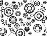 circles and dots abstract coloring page
