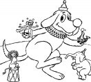 clifford with animals dancing coloring page