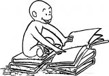 curious george overlay coloring page