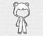 cute gacha life pajamas coloring page