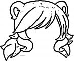 detailed gacha hair gacha life brown hair coloring page