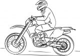 dirty bike coloring page