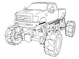 f 350 monster truck coloring page