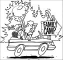 family camp camping coloring page