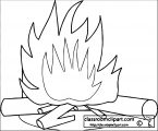 fire_with_logs coloring page