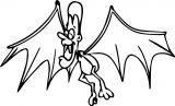 fly vampire wings coloring page