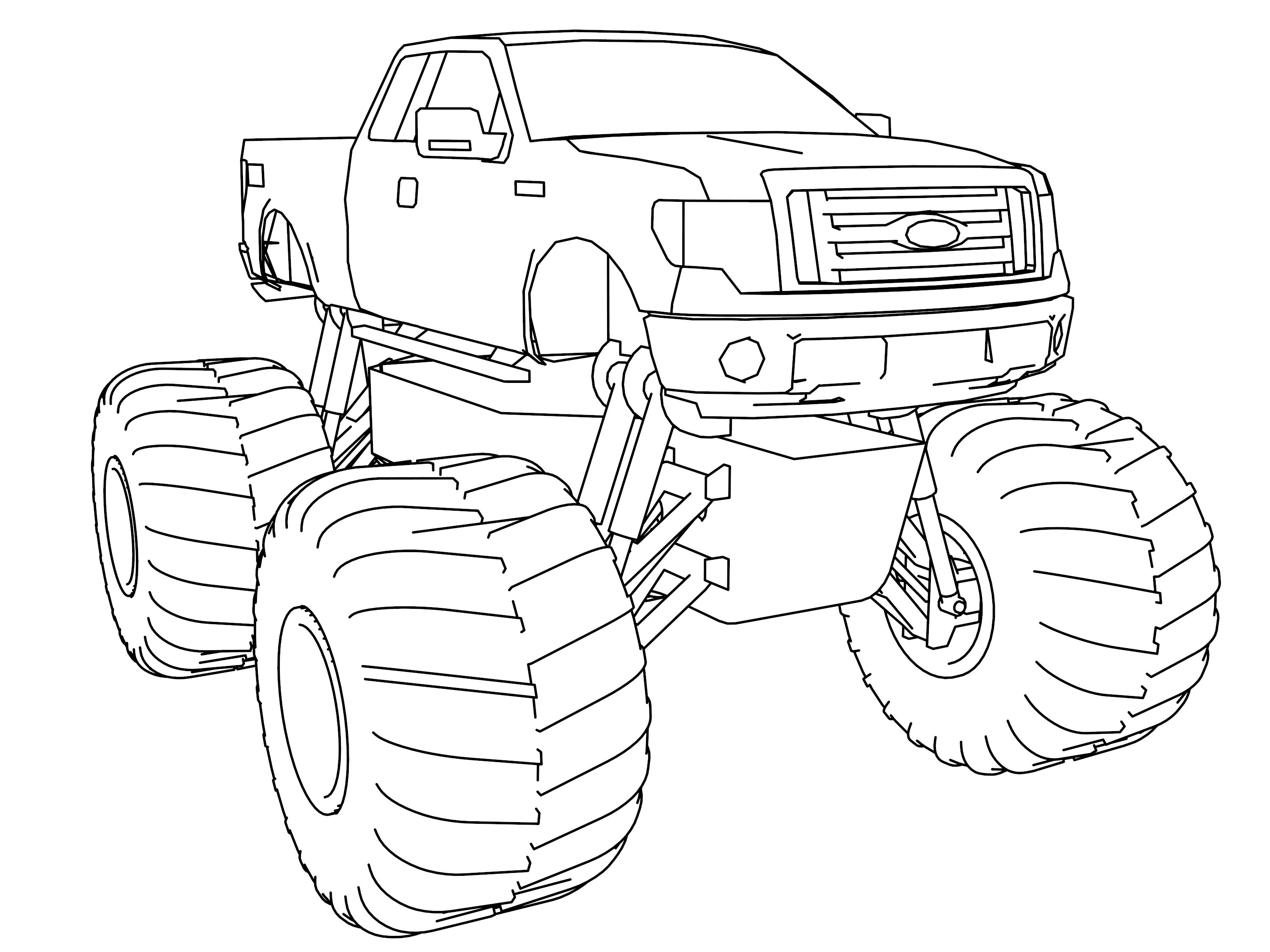 ford f 150 monster truck coloring page