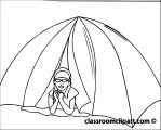 girl_in_tent_camper coloring page