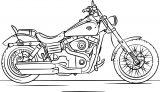harley davidson motorcycle coloring page