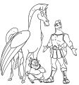 hercules friends coloring pages
