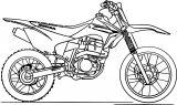 honda dirt bike coloring page
