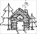 house in forest camp coloring page
