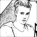 justin bieber coloring page 08