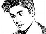 justin bieber coloring page 12
