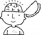 kid brain_coloring_page