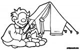 kids summer camp kids camp coloring page