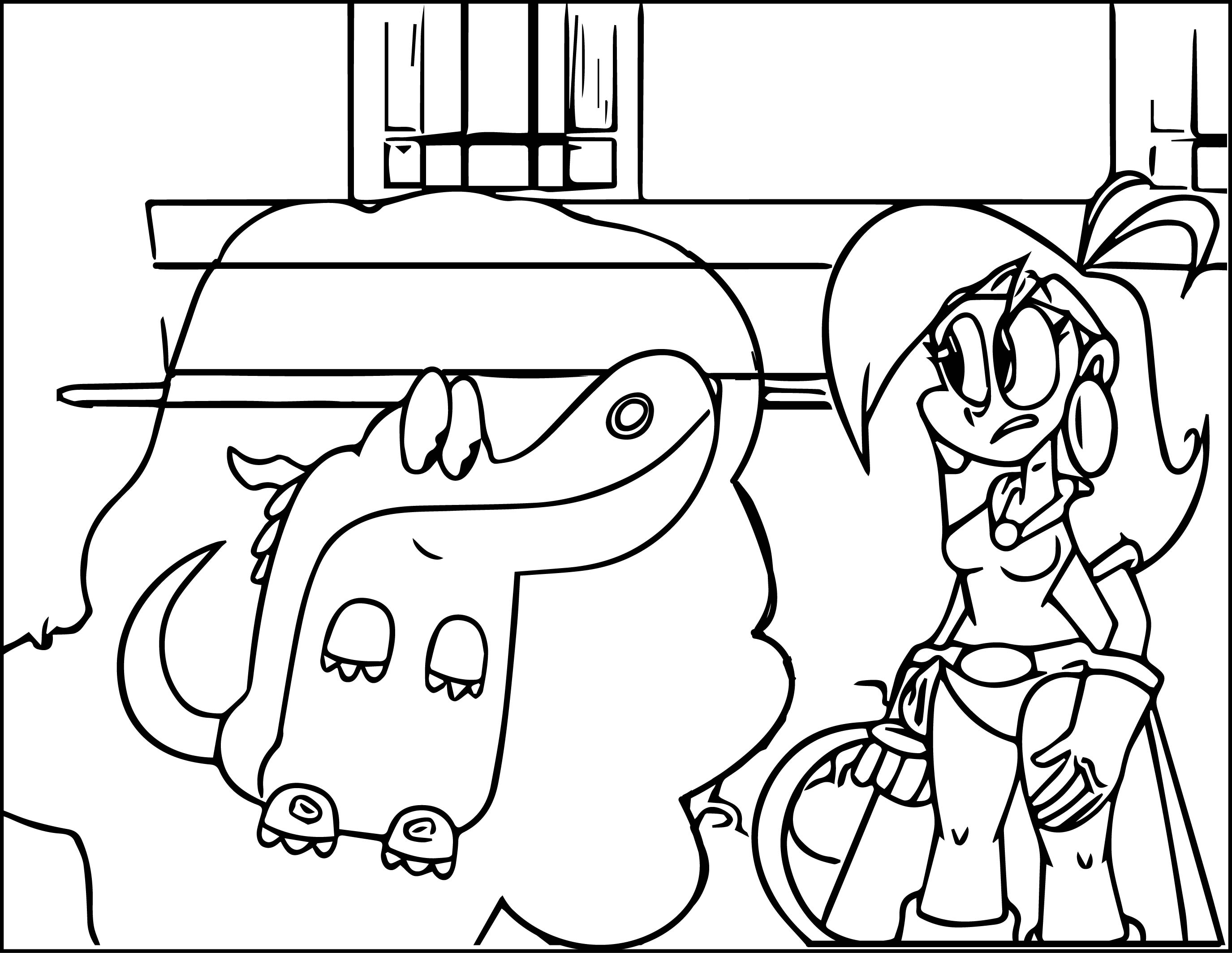 mighty magiswords vambre cartoon coloring page 02
