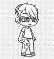 mike gacha life coloring page