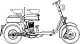 motor scooter lambretta 125e coloring page