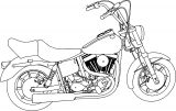 motorbycle coloring page