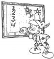 pinocchio board coloring pages