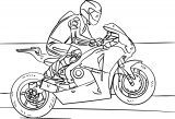 racing motorcycle coloring page
