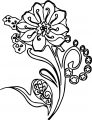 shape flower coloring page