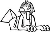 splendor clipart Sphinx in egypt coloring page
