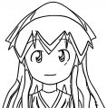 squid girl cartoon Coloring Page