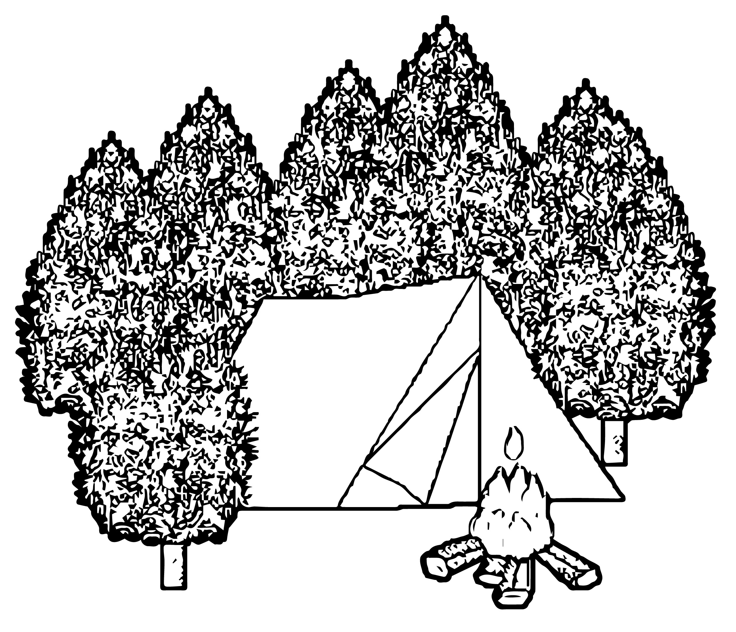 tent 6 coloring page