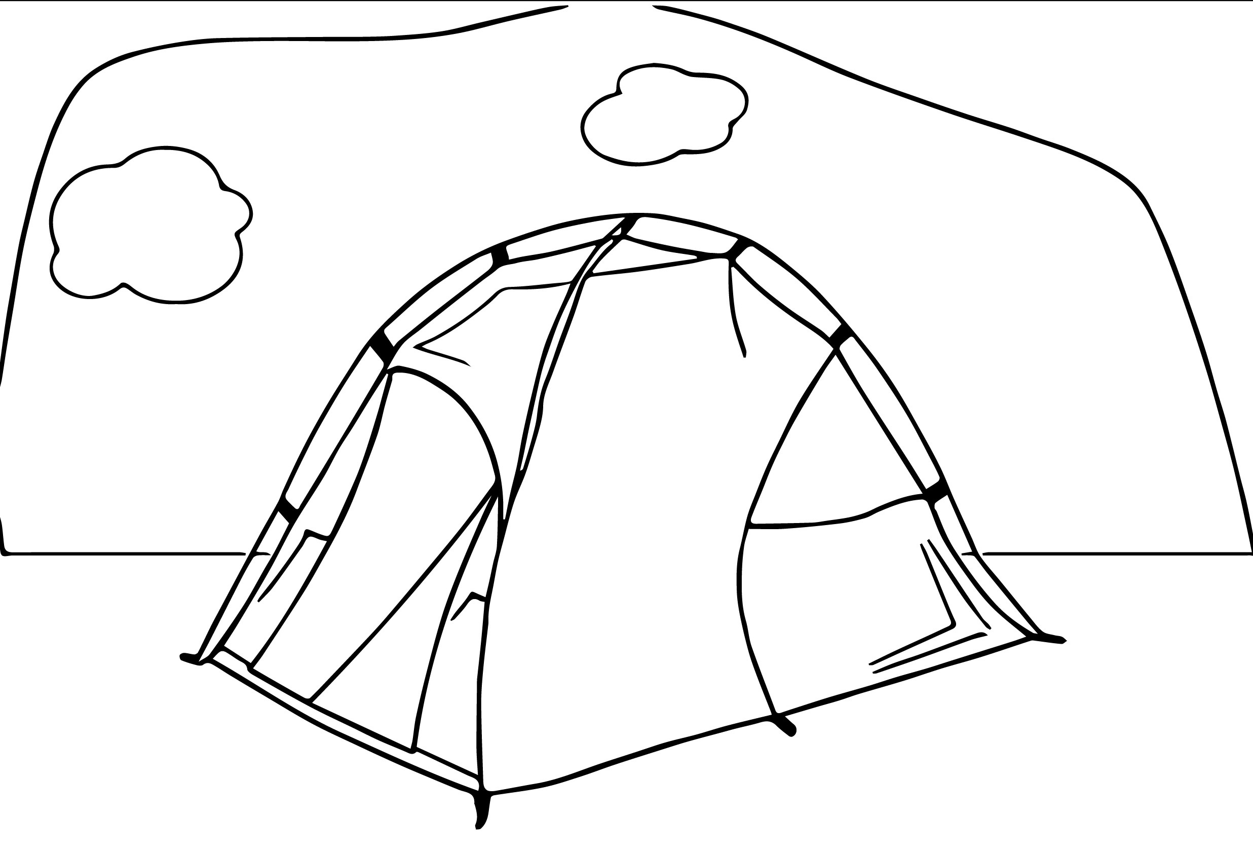 tent_camping_25 coloring page