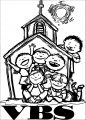 vbs children camping coloring page