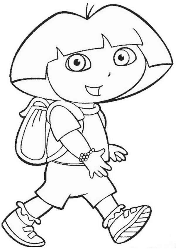 walking dora the explorer coloring page source_68f