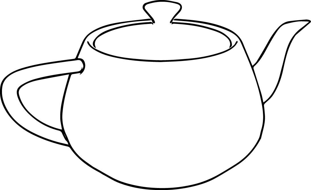 Black White Teapot Line Free Download