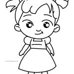 Girl Cute Now Coloring Page