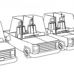 Opacity Cartoon Cars Coloring Page